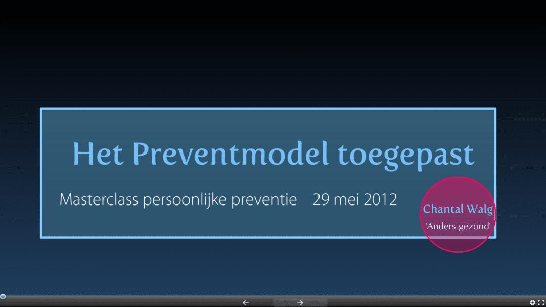preventmodel toegepast