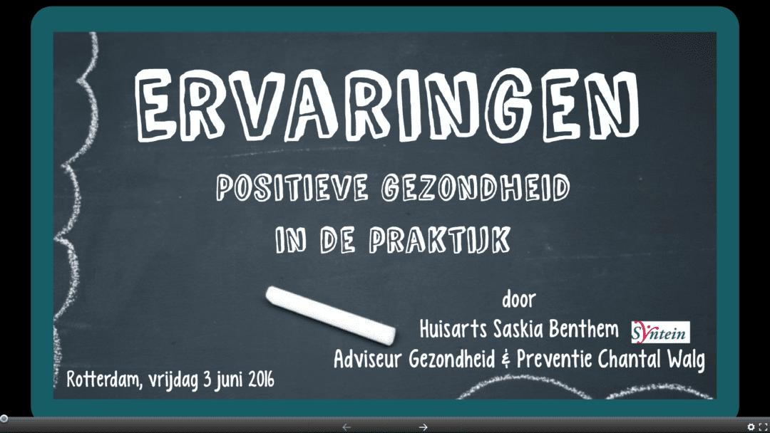 Positieve gezondheid in de praktijk