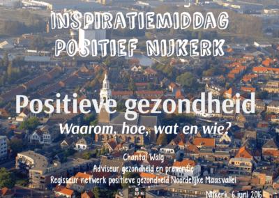 Inspiratiemiddag positieve gezondheid