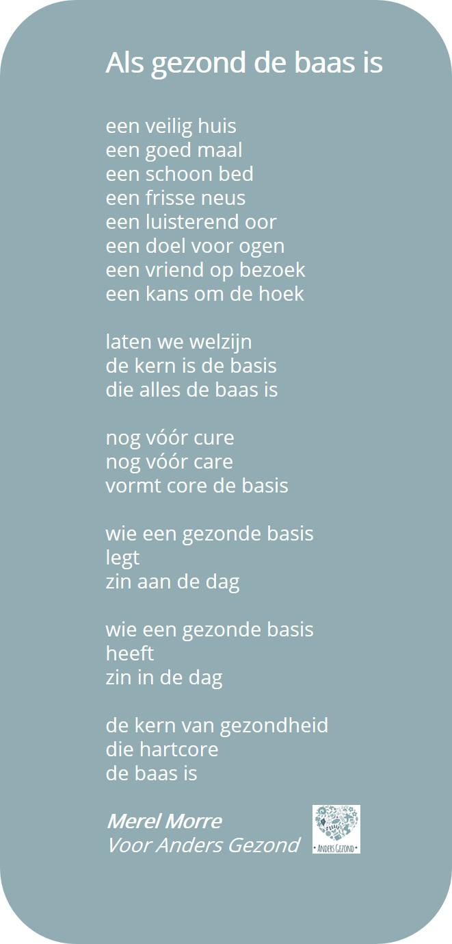 Gedicht Als gezond de baas is